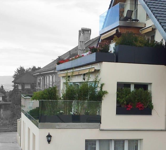 Jardini re en fibre ciment bacs en habillage de garde - Habillage balcon ...