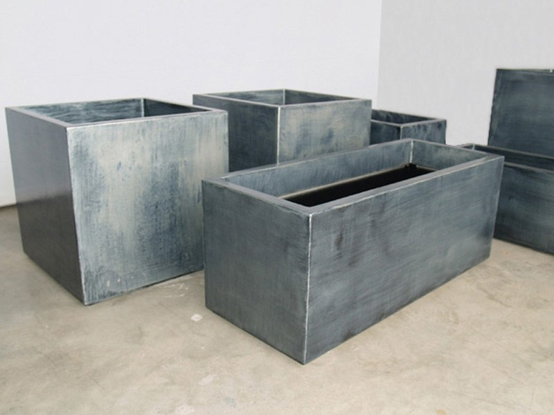 Fiber cement planter Patinated zinc planters - IMAGE'IN by ATELIER SO GREEN