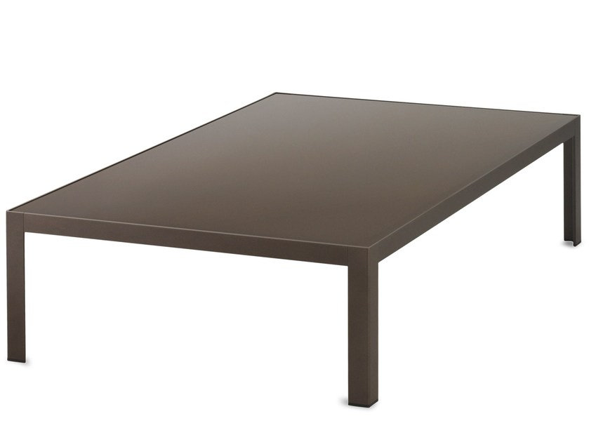 Rectangular aluminium coffee table DATS | Coffee table - Bivaq