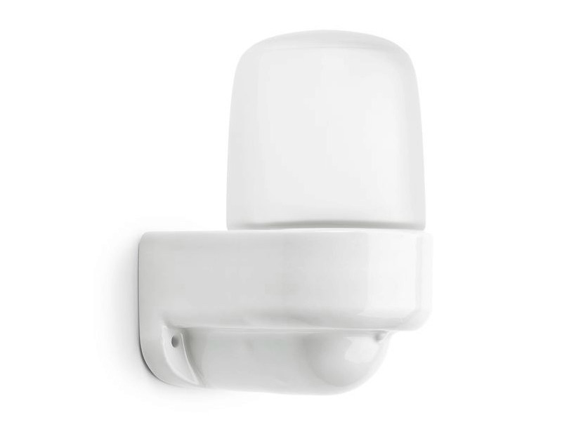Frosted glass wall lamp with fixed arm LINDNER SAUNA - THPG