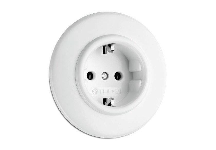 Single plastic electrical outlet 176400 | Outlet duroplast - THPG