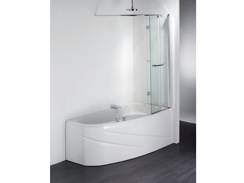 baignoire d 39 angle en acrylique avec douche lugano by condor balneo. Black Bedroom Furniture Sets. Home Design Ideas