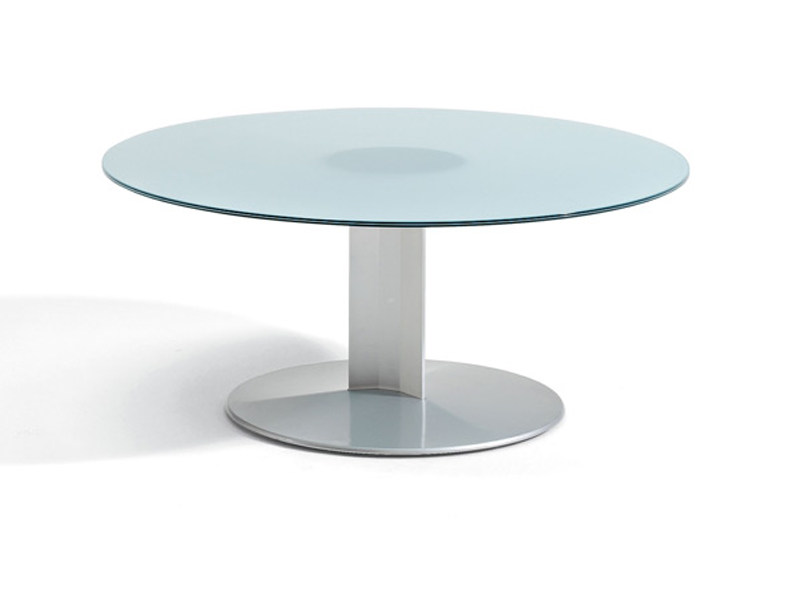 Round glass coffee table PEANA | Round coffee table - ACTIU