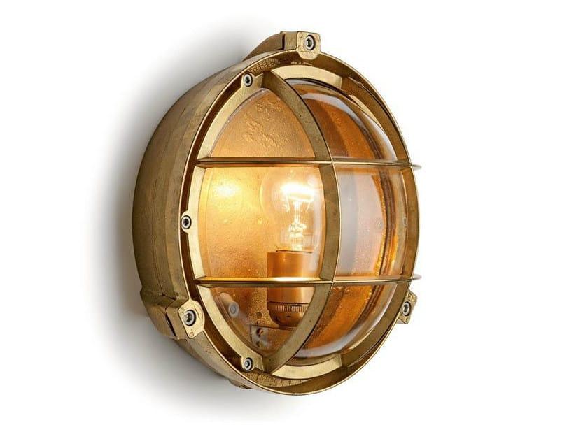 Brass Wall Lamp 100013 | Screen light IP 55 plain brass - THPG