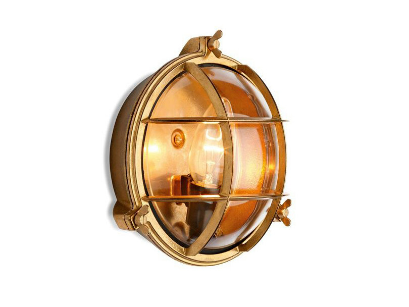 Brass Wall Lamp 100016 | Screen light IP 55 small by THPG
