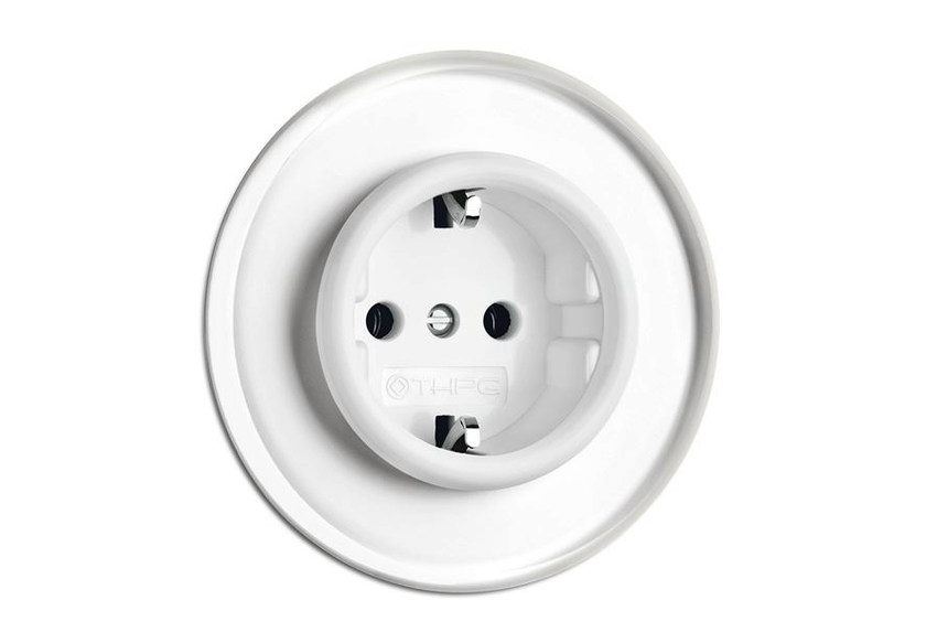 Single electrical outlet 100663 | Outlet with glass covering - THPG