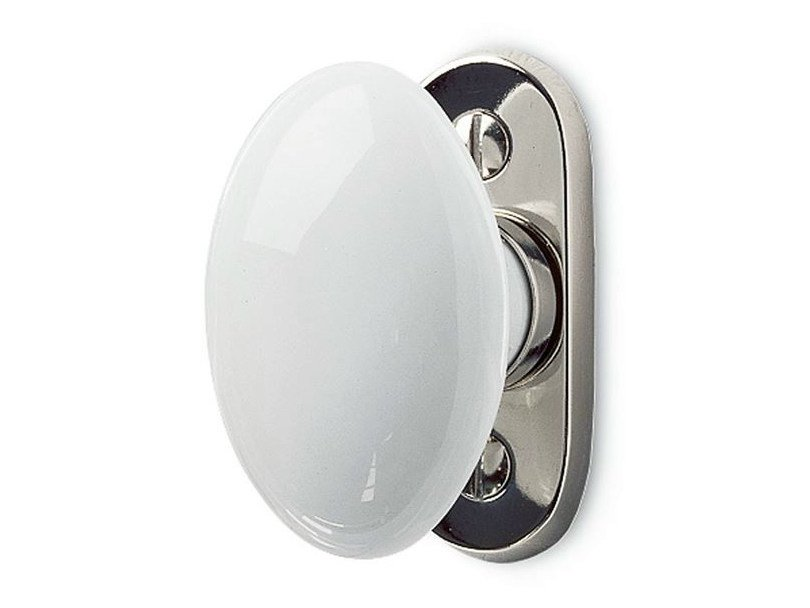 Cremone handle on back plate 159843 | White porcelain window olive - THPG