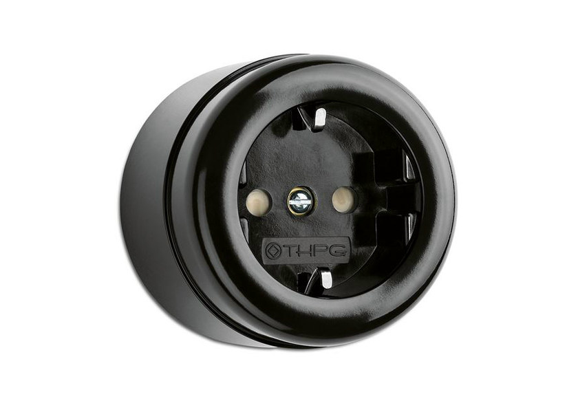 Single bakelite electrical outlet 184200 | Surface mounted outlet bakelit by THPG