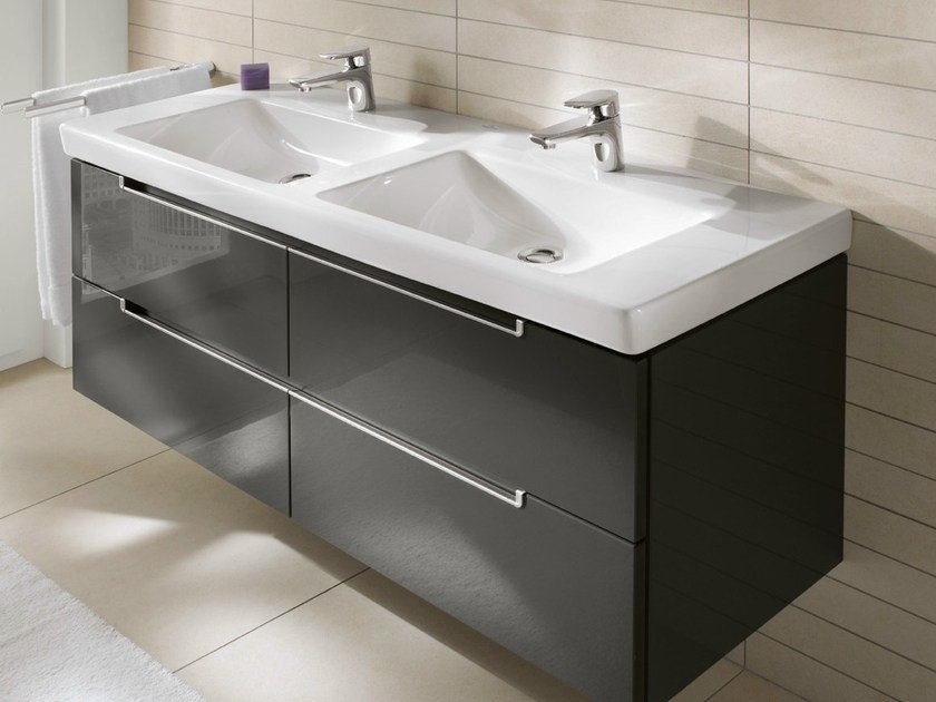lavabo rettangolare di grandi dimensioni in ceramica subway 2 0 lavabo villeroy boch. Black Bedroom Furniture Sets. Home Design Ideas