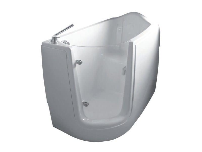 Vasca da bagno in vetroresina con porta acessio serie ergonomique by condor balneo - Porta vasca da bagno ...