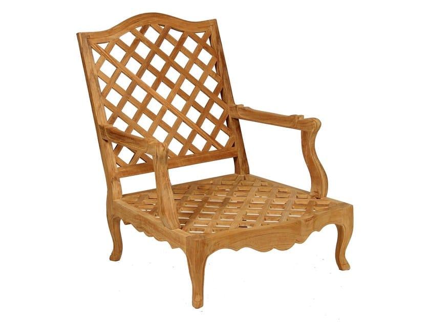 Bergere teak garden armchair CAMÉLIA | Garden armchair by ASTELLO