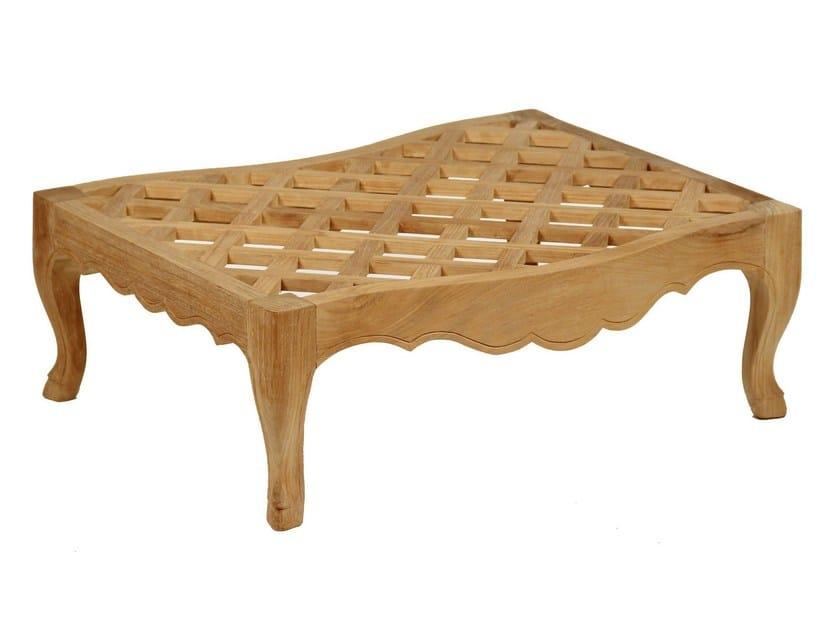 Teak garden footstool CAMÉLIA | Garden footstool - ASTELLO