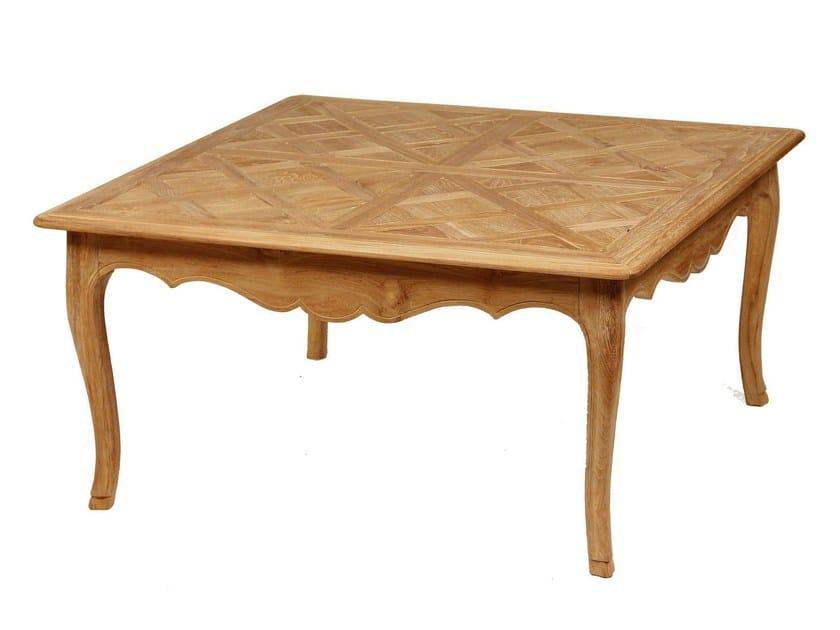 Square teak garden side table CAMÉLIA   Square coffee table - ASTELLO