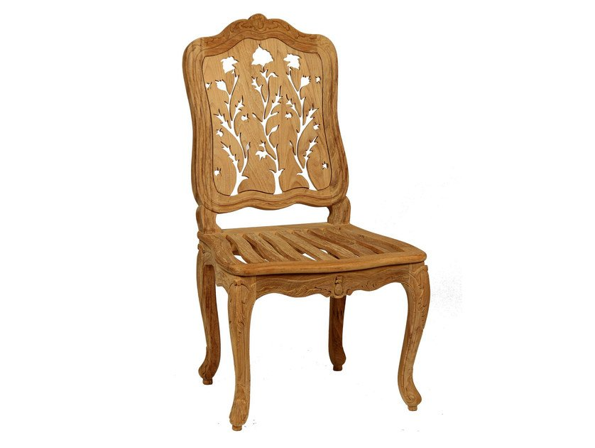 High-back teak garden chair CHÈVREFEUILLE | Garden chair - ASTELLO
