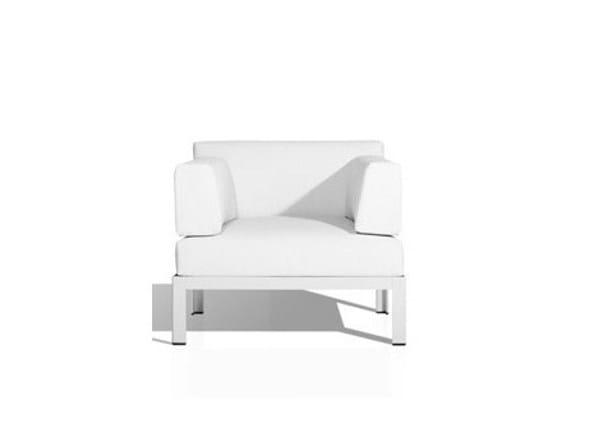 Vinytex garden armchair with armrests NAK | Garden armchair by Bivaq
