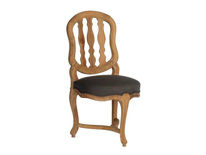 Upholstered teak garden chair BLEUET | Garden chair - ASTELLO
