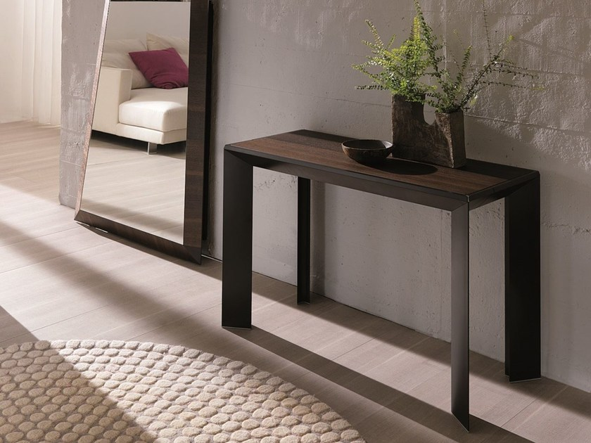 Extending rectangular wooden console table METRO' XL by Ozzio Italia