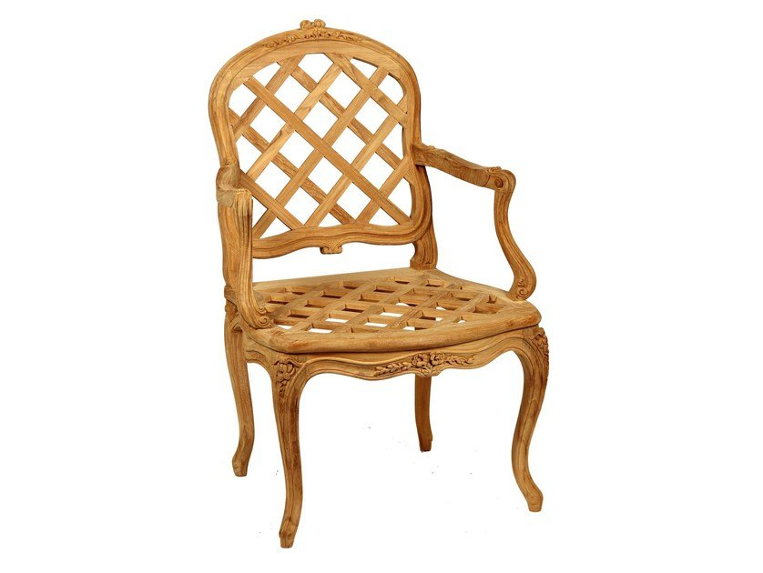 Teak garden chair with armrests BRUYÈRE   Chair with armrests - ASTELLO