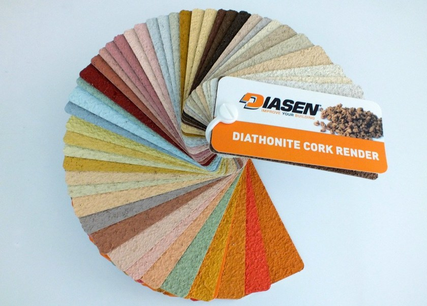 Ecological varnish and paint for sustainable building DIATHONITE CORK RENDER - DIASEN