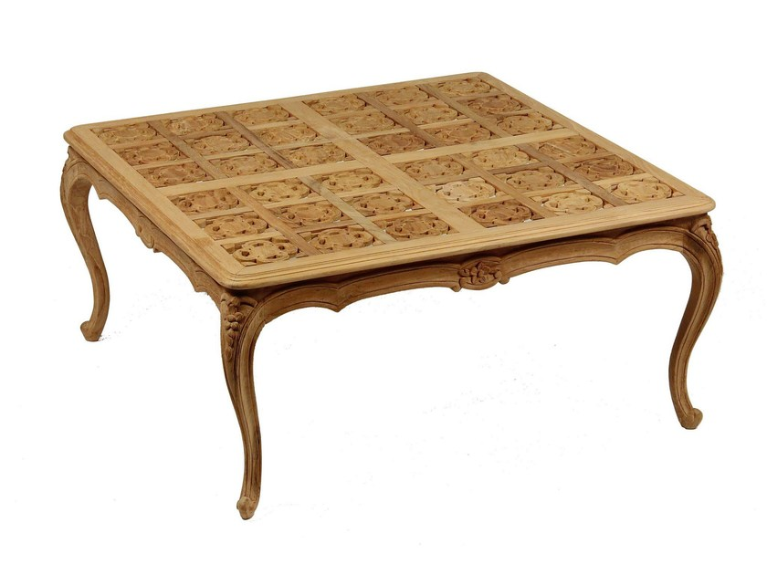 Square teak garden side table GARANCE | Square coffee table - ASTELLO