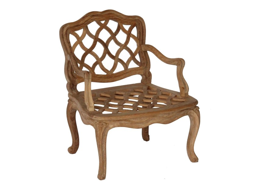 Teak garden chair with armrests PENSÉE | Chair with armrests - ASTELLO