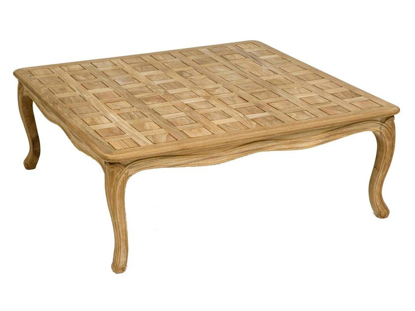 Square teak garden side table PENSÉE | Coffee table - ASTELLO