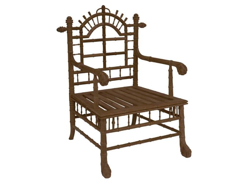 Teak armchair with armrests CLÉMATITE | Armchair with armrests - ASTELLO