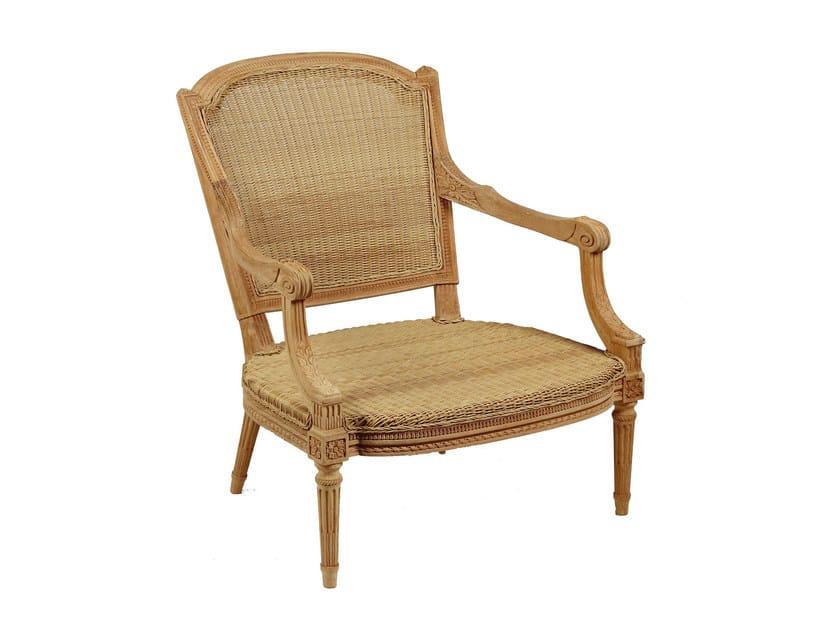 Bergere teak garden armchair GARDÉNIA | Bergere armchair - ASTELLO