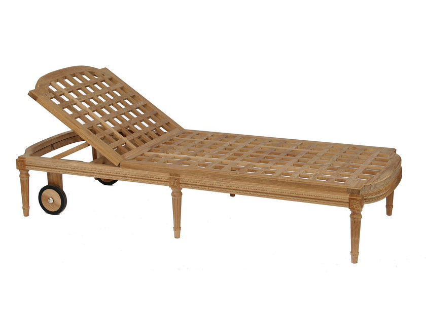 Recliner teak garden daybed GARDÉNIA | Recliner garden daybed by ASTELLO
