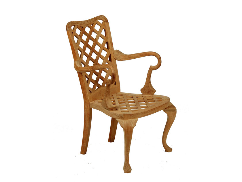 Teak garden chair with armrests ANÉMONE | Chair with armrests by ASTELLO