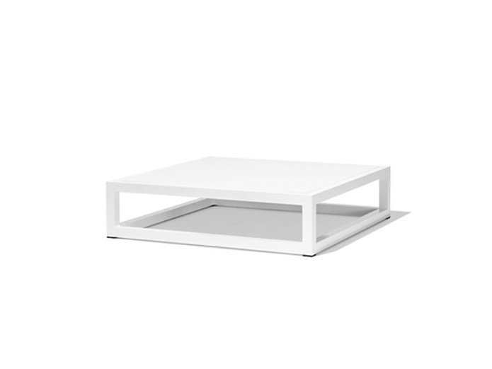 Square metal garden side table NUDE | Coffee table - Bivaq
