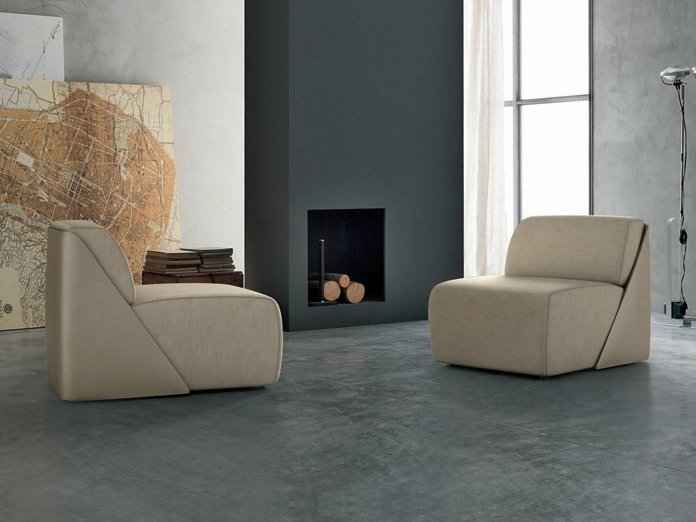 Upholstered leather armchair LAGOON | Armchair - ALIVAR