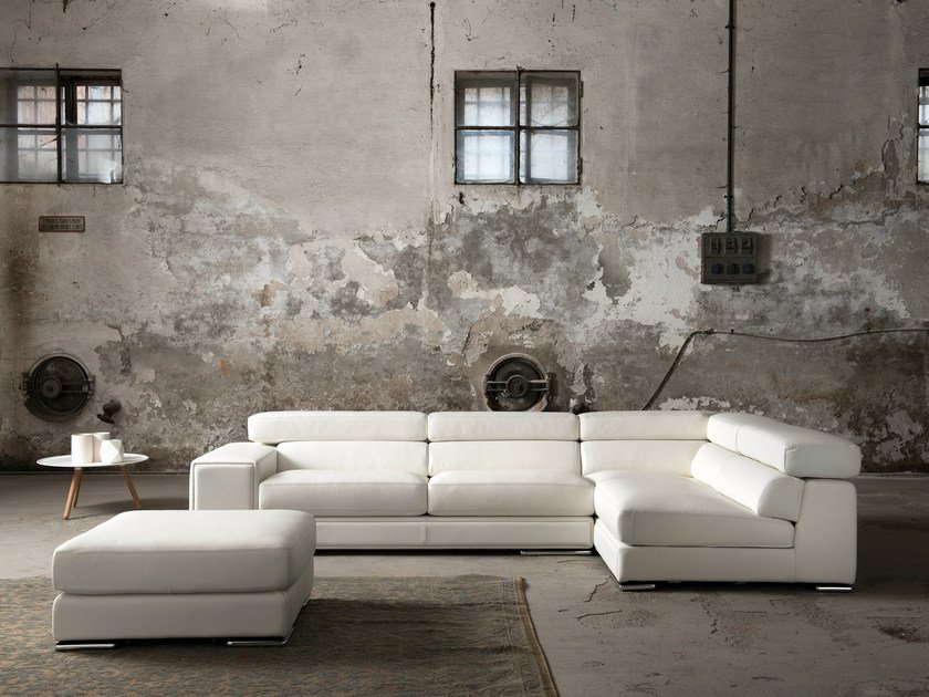 Corner sectional sofa with headrest MILANO - Minimomassimo