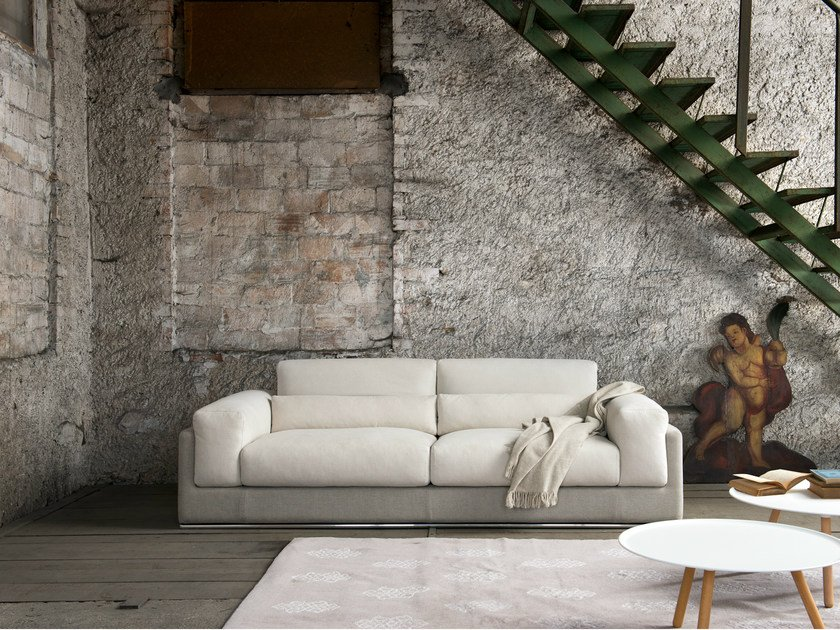 sofa with removable cover with headrest susi by minimomassimo