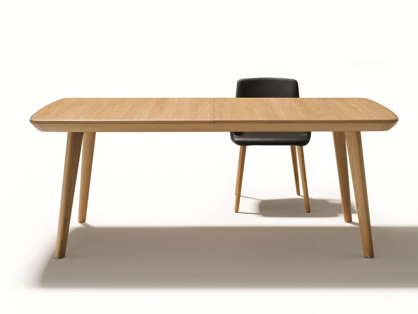 Rectangular solid wood dining table FLAYE | Rectangular table - TEAM 7 Natürlich Wohnen