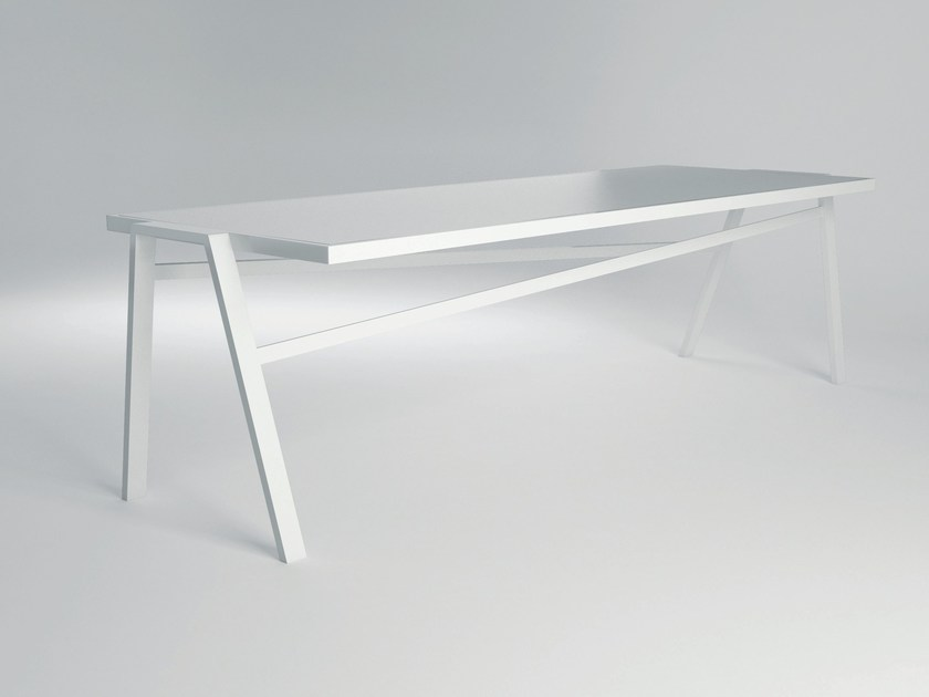 Rectangular aluminium garden table PULVIS II   Garden table - 10Deka
