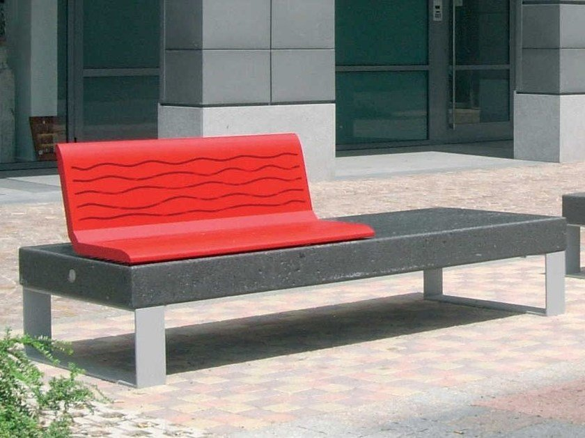 Modular Bench with back DIAMANTE ACCESSORIES (I) | Bench by Metalco