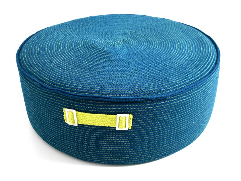 Technical fabric pouf with removable lining WATERLILY | Pouf - Darono