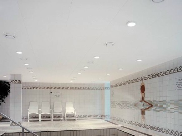 Acoustic glass wool ceiling tiles Ecophon Combison™ Uno Ds - Saint-Gobain ECOPHON