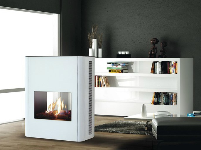 Gas fireplace TORINO | Double-sided fireplace by ITALKERO
