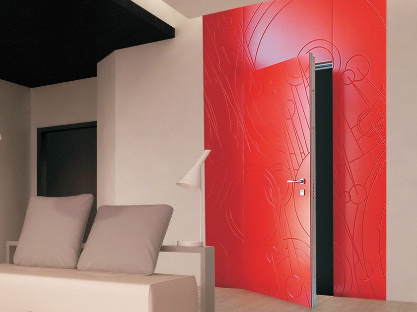 Safety door with concealed hinges FILO BOISERIE - OMI ITALIA