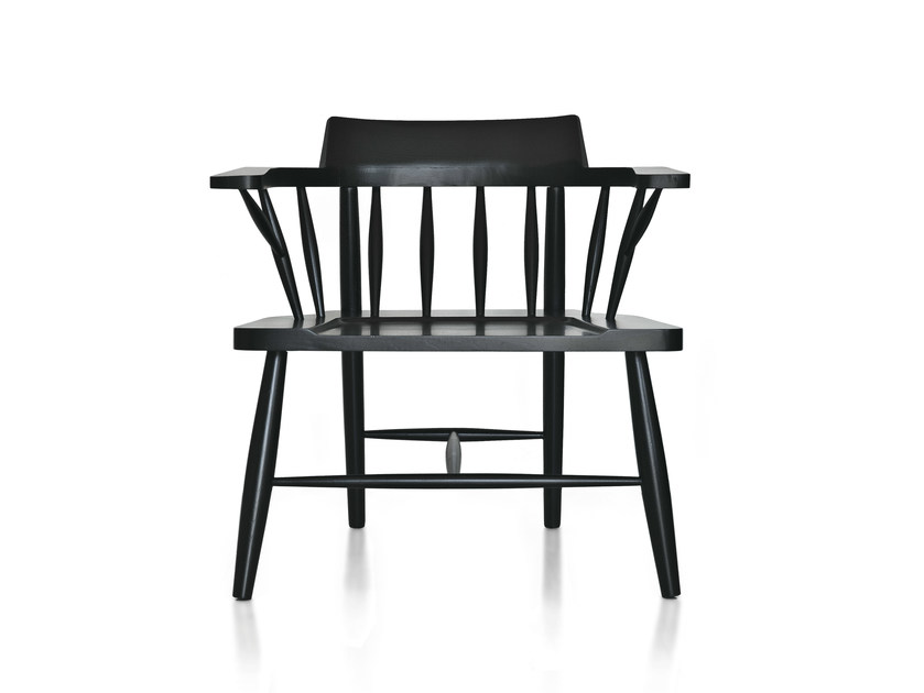 Solid wood easy chair with armrests R&B2 - Branca-Lisboa