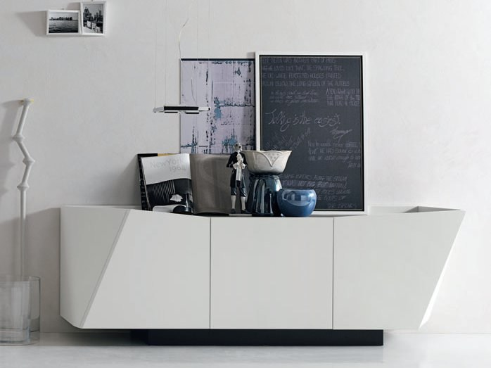 Lacquered wooden sideboard with doors with drawers GEM - ALIVAR