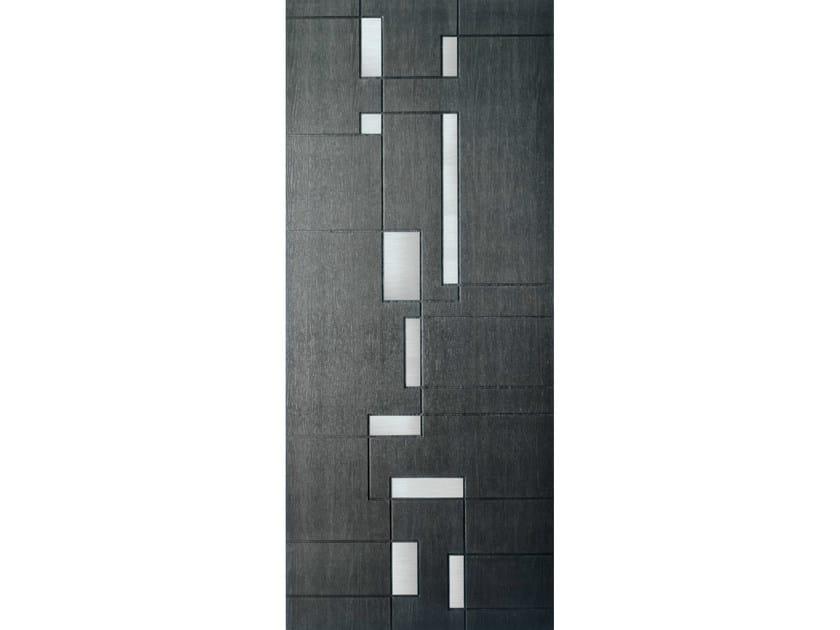 Wood veneer armoured door panel S713 - OMI ITALIA