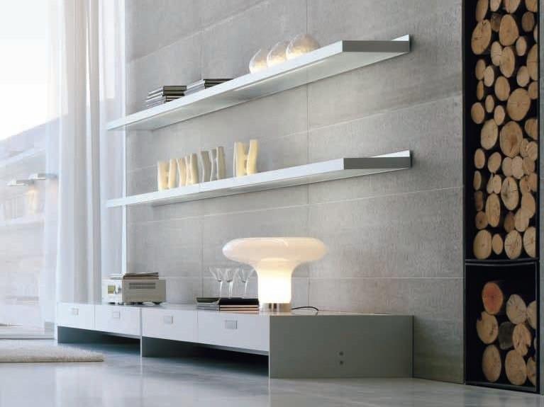 Wooden wall shelf FRAME   Wall shelf by ALIVAR