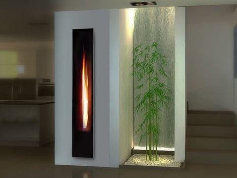 Inserto per camini a gas mirror flame italkero for Stufe italkero