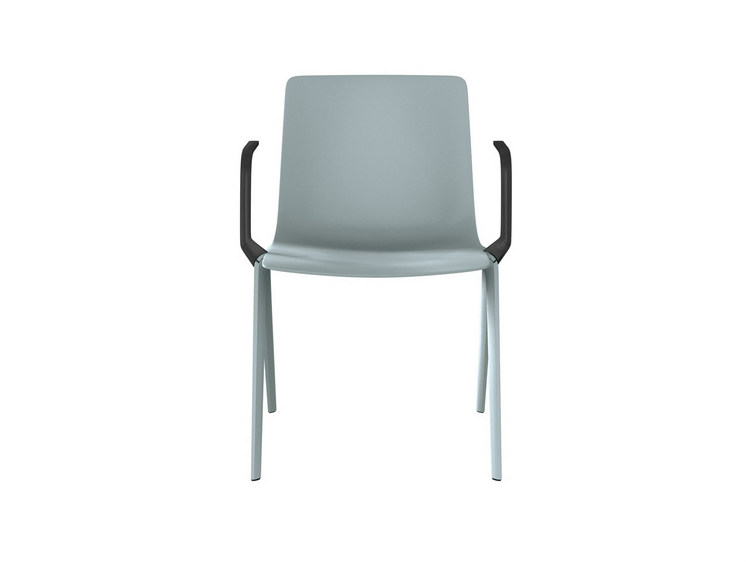 Plastic chair with armrests A-Chair | Chair with armrests - Brunner