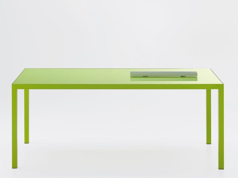 Extending rectangular table COLORS   Rectangular table - MDF Italia