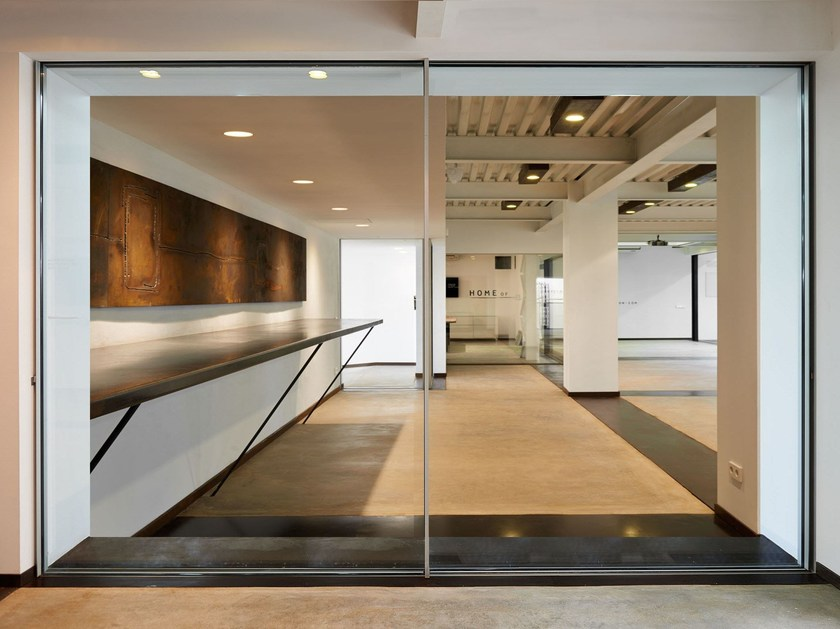 Porta finestra scorrevole in alluminio horizon line home - Porta finestra scorrevole prezzi ...