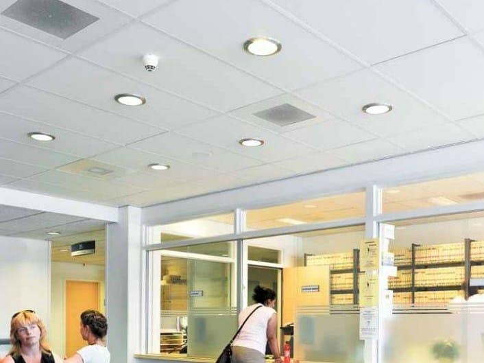 Faux plafond insonorisant pour h pitaux ecophon hygiene clinic e c1 ligne ecophon hygiene by - Plafond suspendu insonorisant ...